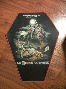 MY BLOODY VALENTINE HARRY WARDEN HUGE COFFIN BACK PATCH EXCLUSIVE TO GHOULISH GOODIES  ( ONLY 2 LEFT!) VALENTINES DAY