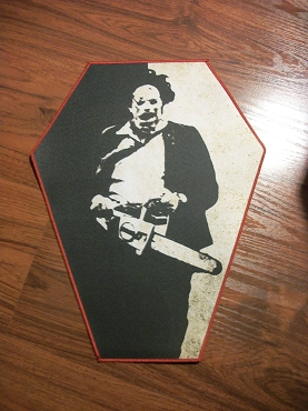 LEATHERFACE TEXAS CHAINSAW MASSACRE HUGE COFFIN BACK PATCH EXCLUSIVE TO GHOULISH GOODIES ( ONLY 2 LEFT!)