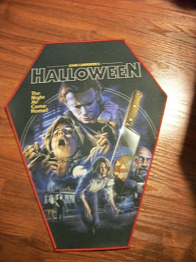 MICHAEL MYERS HALLOWEEN MOVIE COLLAGE HUGE COFFIN BACK PATCH EXCLUSIVE TO GHOULISH GOODIES ( ONLY 2 LEFT!)
