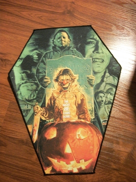 MICHAEL MYERS HALLOWEEN YOUNG MICHAEL PUMPKIN HUGE COFFIN BACK PATCH EXCLUSIVE TO GHOULISH GOODIES ( ONLY 2 LEFT!)