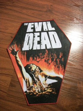 EVIL DEAD ASH HUGE COFFIN BACK PATCH EXCLUSIVE TO GHOULISH GOODIES ( ONLY 2 LEFT!)