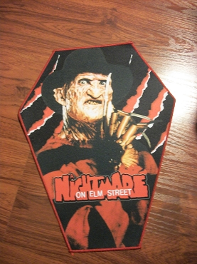 FREDDY KRUEGER NIGHTMARE ON ELM STREET HUGE COFFIN BACK PATCH EXCLUSIVE TO GHOULISH GOODIES ( ONLY 2 LEFT!)