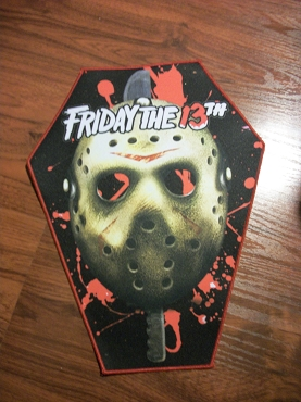 JASON VOORHEES FRIDAY THE 13TH HUGE COFFIN BACK PATCH EXCLUSIVE TO GHOULISH GOODIES ( ONLY 2 LEFT!)