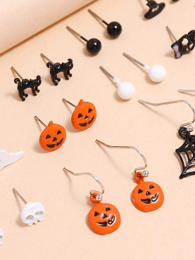 HALLOWEEN - GOTHIC CREEPTASTIC EARRING COLLECTION ( 20 SETS!)
