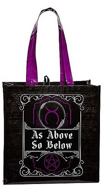 AS ABOVE SO BELOW WITH TREAT TOTE BAG