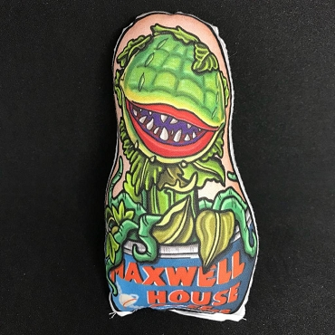 AUDREY II LITTLE SHOP OF HORRORS ONE OF A KIND 2 SIDED ARTIST DESIGNED PILLOW DOLL OR PLUSH ORNAMENT  (CHOOSE YOUR SIZE)