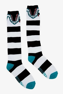 BEETLEJUICE SANDWORM KNEE-HIGH SOCKS (SOLD OUT!)
