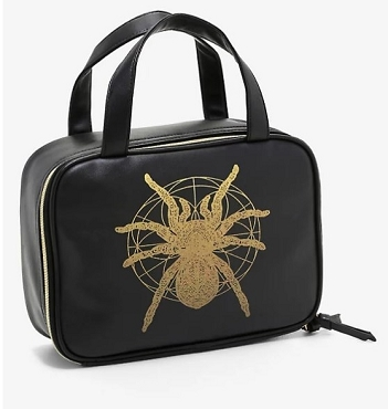 BLACK & GOLD SPIDER  3 PC MAKE UP BAG PURSE