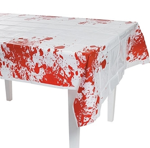 BLOODY BLOOD SPLATTER PLASTIC TABLECLOTH
