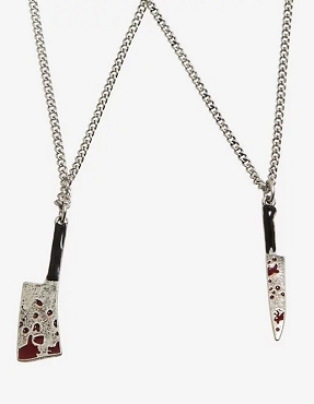 BLOODY WEAPONS BEST FRIEND NECKLACE SET OF 2