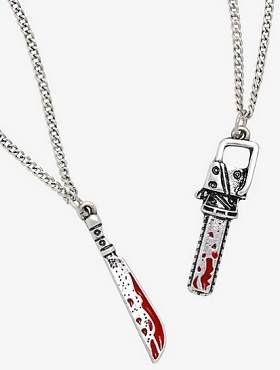 DEADLY WEAPONS NECKLACE SET OF 2