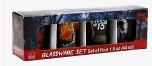FRIDAY THE 13TH JASON MINI SHOT GLASS SET OF 4