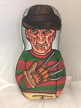 FREDDY KRUEGER NIGHTMARE ON ELM STREET ONE OF A KIND 2 SIDED ARTIST DESIGNED PILLOW DOLL OR PLUSH ORNAMENT  (CHOOSE YOUR SIZE)