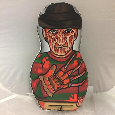 FREDDY KRUEGER NIGHTMARE ON ELM STREET  BLOODY VARIANT ONE OF A KIND 2 SIDED ARTIST DESIGNED PILLOW DOLL OR PLUSH ORNAMENT  (CHOOSE YOUR SIZE)