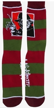 FREDDY KRUEGER STRIPED CREW SOCKS