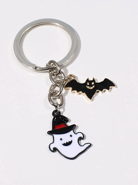 GHOST AND BAT KEYCHAIN