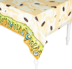GROSS SLIMY BUGGY PLASTIC TABLECLOTH
