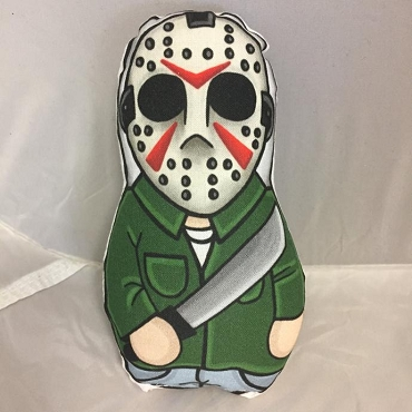 JASON VOORHEES FRIDAY THE 13TH ONE OF A KIND 2 SIDED ARTIST DESIGNED PILLOW DOLL OR PLUSH ORNAMENT  (CHOOSE YOUR SIZE)