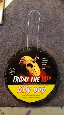 JASON VOORHEES FRIDAY THE 13TH JIFFY POP ART DECORATION ( ONLY 1 LEFT!) EXCLUSIVE!
