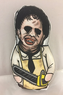 LEATHERFACE TEXAS CHAINSAW MASSACRE ONE OF A KIND 2 SIDED ARTIST DESIGNED PILLOW DOLL OR PLUSH ORNAMENT  (CHOOSE YOUR SIZE)