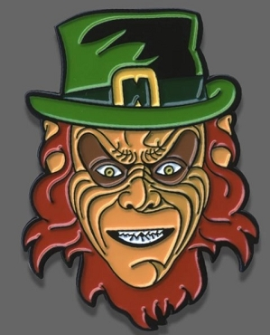 LEPRECHAUN ENAMEL PIN FRIGHT RAGS VERY RARE OUT OF PRINT EXCLUSIVE EXTREMELY LIMITED STOCK ( ONLY 3 LEFT!)