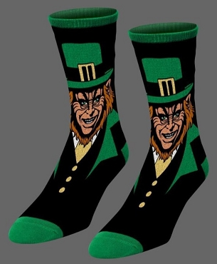LEPRECHAUN SOCK SET VERY RARE OUT OF PRINT EXTREMELY LIMITED ( ONLY 3 AVAILABLE)