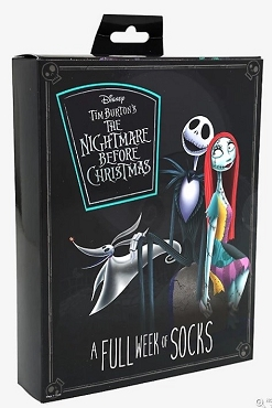 THE NIGHTMARE BEFORE CHRISTMAS 7 DAYS OF SOCKS GIFT SET (7 PAIRS)
