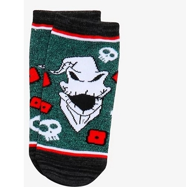 OOGIE BOOGIE ( NIGHTMARE BEFORE CHRISTMAS) NO SHOW ANKLE DICE SOCKS (EXCLUSIVE)