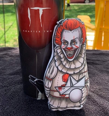 PENNYWISE (IT) SCARY VERSION ONE OF A KIND 2 SIDED ARTIST DESIGNED PILLOW DOLL OR PLUSH ORNAMENT  (CHOOSE YOUR SIZE)