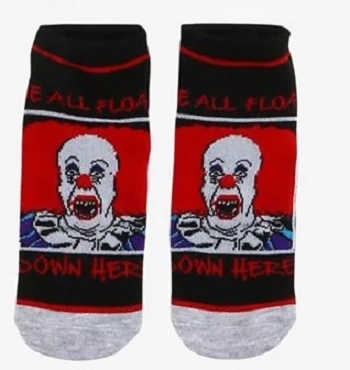 PENNYWISE ( IT) ORIGINAL NO SHOW SOCKS (EXCLUSIVE)