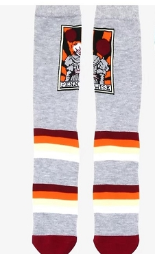 PENNYWISE (IT) STRIPED CREW SOCKS (EXCLUSIVE)