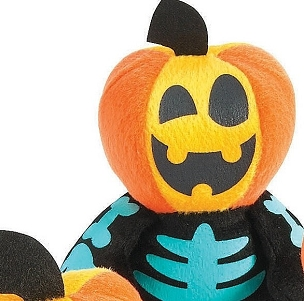 MINI SPOOKADELIC PUMPKIN SKELETON PLUSH DOLLS (BLUE)
