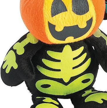 MINI SPOOKADELIC PUMPKIN SKELETON PLUSH DOLLS (GREEN)