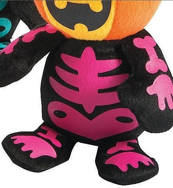 MINI SPOOKADELIC PUMPKIN SKELETON PLUSH DOLLS (PINK)