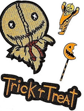 SAM ( TRICK R TREAT) PIN AND PATCH SET