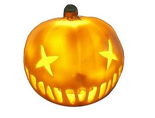 SAM TRICK R TREAT MINI PUMPKIN HEAD LED LIGHT