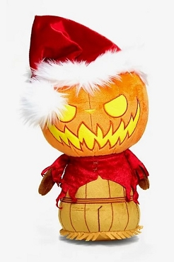FUNKO NIGHTMARE BEFORE CHRISTMAS PUMPKIN KING SANTA COLLECTIBLE PLUSH HOT TOPIC EXCLUSIVE