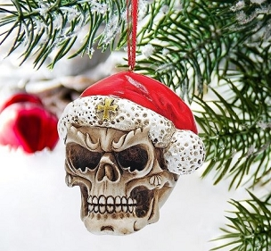SKELLY CLAUS ORNAMENT