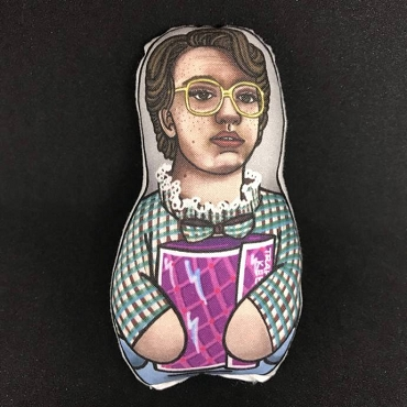 STRANGER THINGS BARB ONE OF A KIND 2 SIDED ARTIST DESIGNED PILLOW DOLL OR PLUSH ORNAMENT  (CHOOSE YOUR SIZE)
