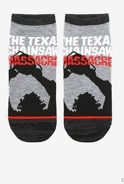 THE TEXAS CHAINSAW MASSACRE SILHOUETTE NO-SHOW SOCKS
