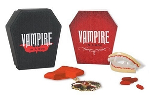 VAMPIRE IN A BOX BOOK AND VAMPIRE KIT VERY RARE AND OUT OF PRINT