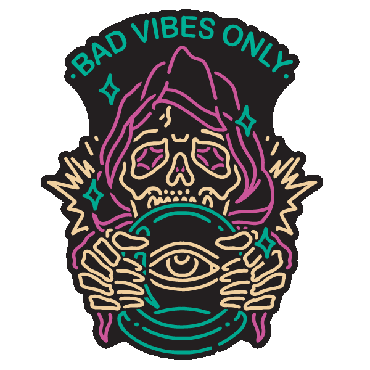 BAD VIBES ONLY ENAMEL PIN