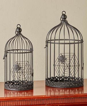 CREEPY BIRD CAGE SET OF (2)