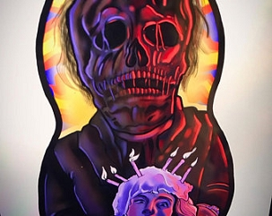 CREEPSHOW FATHER'S DAY ONE OF A KIND 2 SIDED ARTIST DESIGNED PILLOW DOLL OR PLUSH ORNAMENT  (CHOOSE YOUR SIZE)