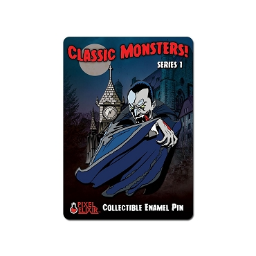 CLASSIC MONSTERS DRACULA VAMPIRE ENAMEL PIN RARE DISCONTINUED!