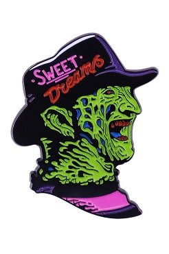 FREDDY KRUEGER NEON NIGHTMARE ON ELM STREET PIN