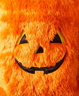 ORANGE PUMPKIN FURRY FUZZY CRAZY WACKY HALLOWEEN TRICK OR TREAT TOTE BAG PURSE