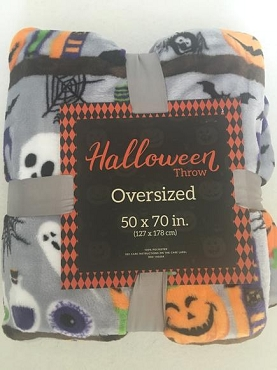 BLANKET-SPOOKY COLORFUL OVERSIZED ULTRA PLUSH BLANKET THROW
