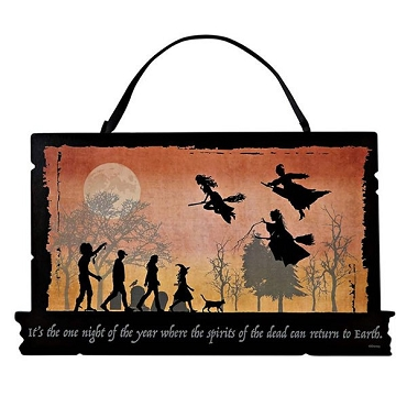 DISNEY HOCUS POCUS SPIRITS RETURN TO EARTH HANGING SIGN (ONLY 1 LEFT!)