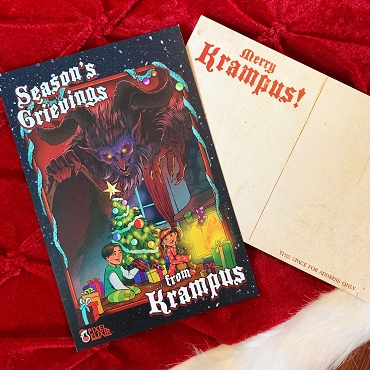 SEASON'S GRIEVINGS KRAMPUS VINTAGE POSTCARD